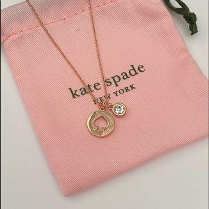 Rose gold Kate Spade signature necklace